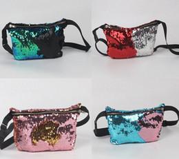 Wholesale Small Tote Purse Wholesale - Mermaid Sequin Pocket Sequins Fashion Bags Glitter Purse Women Tote Storage Bag Crossbody HandBags Cosmetic Makeup Bag 10PCS
