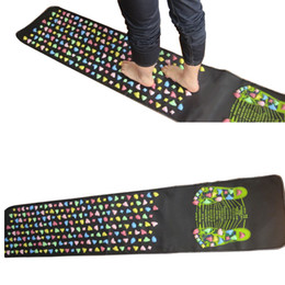 Wholesale Foot Massaging Mat - 170*35cm Massage cushion Acupressure Mat Relieve Stress Pain Home Health Acupuncture Feet Yoga Mat with Pillow