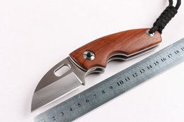 Wholesale Good Fixed Blade Knife - Free Shipping 2017 new goods wild life outdoor small folding knife stainless steel folding knife yellow sandalwood gift gifts outdoor knife