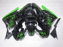 Wholesale Green Black Cbr - New TOP quality ABS motorcycle Full Fairing kits Fit For HONDA CBR600 91-94 CBR 600 F2 1991 1992 1993 1994 bodywork set black Green Flame