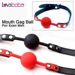 Wholesale Sm Mouth - New Sex SM Open Mouth Gag Ball for Couples PU Leather&Silicone Erotic Toys SM Adults Games for Women Oral Fixation Stuffed toys