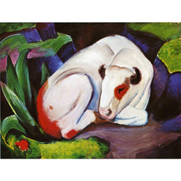 Wholesale Bull Canvas Painting - Gift horses oil paintings by Franz Marc The Steer The Bull Hand painted modern art wall decor
