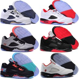 Wholesale Cheap Mens Shoes Free Shipping - Free shipping Cheap New Retro 5 V 5s low Neymar space 3m reflective effect Cement grey men shoes basketball sports shoes V mens sneakers