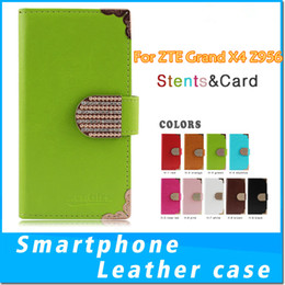 Wholesale Diamond Buckle Leather Wallet Case - For ZTE Grand X4 Z956 LG K20 PLUS V5 LV5 G6 Huawei MATE 9 Pro Bling Rhinestone Diamond Buckle Leather CASE Cover