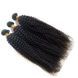 Cabelo curly brasileiro barato on-line-Não transformados europeus virgem cabelo humano brasileiro preço barato 3 4 5 pc / lote kinky onda atacado extensões de cabelo mongol malaio DHgate