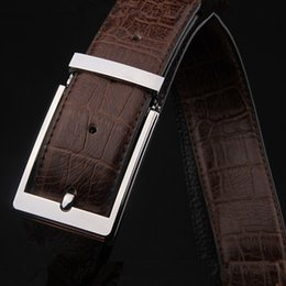 Wholesale Casual Dress One Size - Direct Selling Special Offer Belts Rectangle The Layer of Leather Belt Buckle Fashion Casual Dress High-end belts men high quality