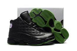 Wholesale Cycle Kid - Men Basketball Shoes Air Retro 13 Altitude Real Carbon Fiber Mens Sport Shoes Drop Shipping With Box Kids Shoes