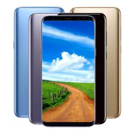 Wholesale Tv Unlock Phone Dual Sim - 6.2inch S8 Plus MTK6580 Quad Core 1G RAM 8G ROM 8MP Camera Iris Fingerprint 3G WCDMA Full Screen Unlocked phone