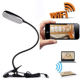Wholesale Remote Alarm Lamp - Wi-Fi Hidden Camera Desk Lamp 1080P Full HD 2-way Audio Motion Detection Activated Alarm App Remote Video View Lighting Nanny Spy