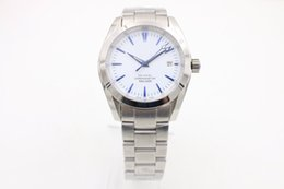 Wholesale Mens White Face Automatic Watches - Big sell watches aaa watches37mm size White face Stainless steel strap watch mens luxury watch