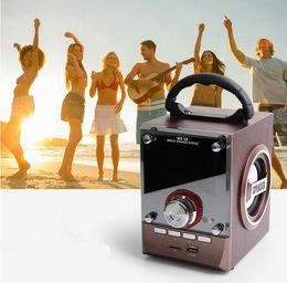Wholesale 18 Sounds Speakers - MS-18BT   CV-18   CV-356 LED Wood Luxury Mobile Multimedia Wireless Bluetooth Portable Speaker USB TF AUX FM Outdoor Super Bass