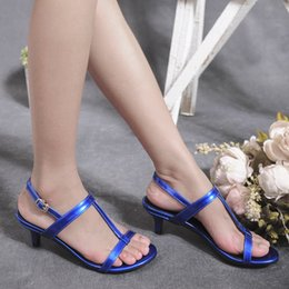 Wholesale Low Heel Formal Shoes Women - High Quality Fashion Women Ladies Low Heel Shoes Summer Sandals Joker Elegant Office Lady Party Work Formal Ankle Strap Pumps