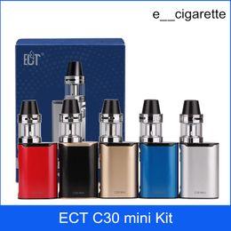 Wholesale Electronic Mini - ECT C30 mini kit e cigarette box mod vape mod met atomizer 2.0 ml vaporizer 1200mah electronic cigarette starter kits