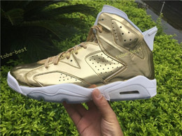 Wholesale Volleyball Spike - High Quality Retro 6 Metallic Gold Men Basketball Shoes 6s Gold Spike Lee Athletics Sneakers Shoes Eur Size 36-47 us 5.5-13