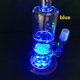 bongo iluminado Desconto Luz LED Para Bongo de Vidro Base de LED Light multicolor Ajuste Automático em estoque MAIS de 50 Pcs livre DHL