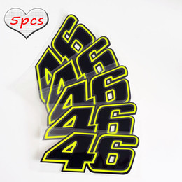 Wholesale Moto Decals - 5pcs Free Bike Stickers Moto GP 46 ROSSI Decals Motorcycle Helmet Decals Funny Sticker Car-Styling Racing Motocross