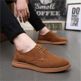 Wholesale Outlet Point - Hot Sale Big Size Men Suede Leather Shoes Casual Fashion Shoes Factory Outlet