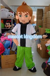 Wholesale Brave Dress - Ben 10 Cartoon Mascot Costume Brave characters Fancy Dress Adult Size Free Ship