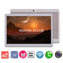 Wholesale Call Tab - Wholesale- Original 10 inch Octa Core Tablet PC 4GB RAM 32GB ROM inch IPS 1920X1200 8.0MP Camera Dual SIM 4G FDD LTE Android 6.0 GPS Tab 10
