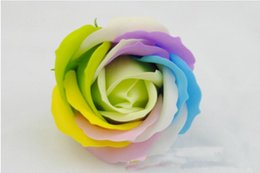 Wholesale Toilet Soap Wholesalers - Rainbow Rose Soaps Flower Packed Wedding Supplies Gifts Event Party Goods Favor Toilet Soap Scented Bathroom Accessories