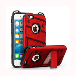 Wholesale Rubberized Phone Covers - Cover For Iphone X 7 I7 Plus 6 6S Samsung J2 J5 J7 Prime Rubberized Stand Shockproof Cell Phone Cover
