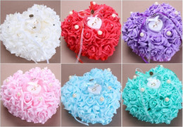 Wholesale Western Wedding Bouquets - High - end Western - style heart - shaped roses with a box of quit pillow wedding bride flowers bouquet wedding supplies wholesale
