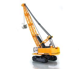 Wholesale Excavator Children Toy - Children alloy toy car model crane tower rope excavators can rotate