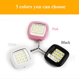 Wholesale New Ipad 16 - NEW RK05 Led Flash Night using selfie enhancing light Smartphone Led falsh light sync led light with 16 Bulbs for iPhone ipad Samsung HTC