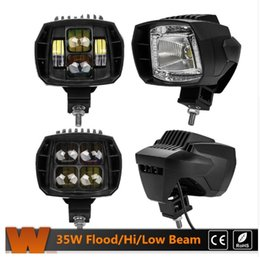 Wholesale Motorcycle 35w - 2Pcs Set 5.1'' LED Work Light Hi Low Flood Beam 35W LED Driving Light for Jeep Ford Motorcycle Truck SUV ATV UTV 3880Lm