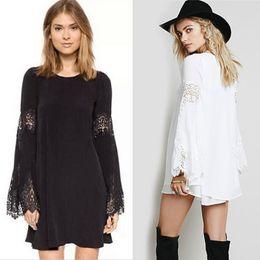 Wholesale Wholesale Maternity Plus Sizes - Maternity Dress Pregnant Women Lace Hollow Summer Clothes Fashion European Style Plus Size Clothing Black White
