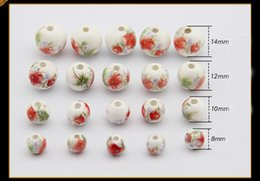 Wholesale Diy For Jewelry - Free Shipping Loose Beads Applique Flower Ceramic Bead 3mm Hole For DIY Strip Bracelet Jewelry 100pcs A Lot Wholesale