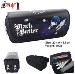 1567a0f9363f Wholesale- Anime Black Butler Style Zipper Pencil Case Cosmetic Pouch  Wallet Purse Bag