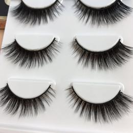 Wholesale High Performance Hair - Handmade 3D Dimensional False Eyelashes High Quality Fiber Thick Winged Natural Messy Fake Eyelashes Performance Smoked Makeup Eye Lashes