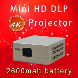 tela cheia do projetor do hd Desconto Atacado-projetor pico full HD Projetor DLP grande tela Inteligente Novo Beamer Conveniente Construído em 2600 mAh Bateria Android Wifi Bluetooth