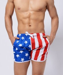 Wholesale Mens American Swimwear - Wholesale price Mens Summer American flag Beach Shorts Pants High-quality Swimwear Bermuda Male Letter Surf Life Men Swim