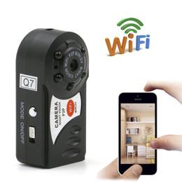 2019 enregistrer la webcam vidéo Q7 WiFi Mini Caméra Caméscope IP P2P Mini DV Sans Fil Caméra de Sécurité Enregistrement Caméscope Vidéo Surveillance Webcam Android iOS promotion enregistrer la webcam vidéo