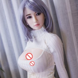 Wholesale Europe Sex Dolls - 163cm real Silicone Sex Dolls For Men The Sexual Doll Oral Anal vagina big breast adult sex love doll for men Japanese Europe