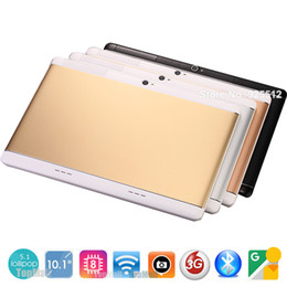 Wholesale Android Tablet Unlocked Gps - Wholesale- 2017 New 10 inch Octa Core unlock 3G WCDMA Tablet 4GB RAM 32GB ROM Dual SIM Cards Cellular Android 5.1 GPS Tablette 10 10.1 Gift