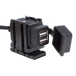 Wholesale 12v Motorcycle Power - Dual USB Port 12V Waterproof Motorbike Motorcycle Handlebar Charger Adapter Power Supply Socket for Phone GPS MP4 MOT_30M