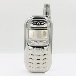 Wholesale 3oz Stainless Steel Flasks - 3oz Stainless Steel Mobile Phone Shape Hip Flask Drinkware Whiskey Liquor Metal Flask Alcohol Flask Flagon Marmita Wiskey