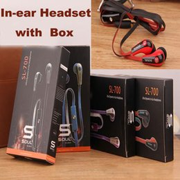 Wholesale Hotsale Headset - Hotsale Mini Soul SL700 Soul By Ludacris In Ear Earphone Headset Headphone eith Mic For Apple Ipod iphone Android phone with retail package