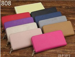 Wholesale Top Quality Ladies Clutch Wallets - Top Europe 2017 High Quality Synthetic Leather women Wallet luxury brand designer Michael Wallets woman Clutch purse imitation brands