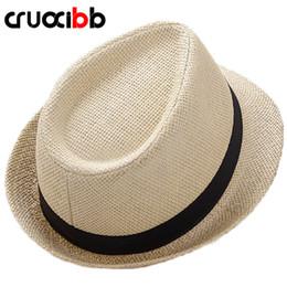 Cappelli di paglia di paglia delle signore online-2017 Moda Unisex Cappello da sole Uomo Bone Ladies Estate Cappello di paglia Spiaggia Protezione UV Papà Cap Tempo libero Chapeau Panama donne
