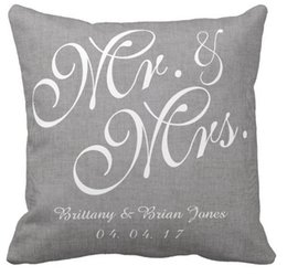 Wholesale Navy Souvenirs - Factory direct sales of high-quality linen wedding souvenir pillow pillow time name can be customized sofa pillow