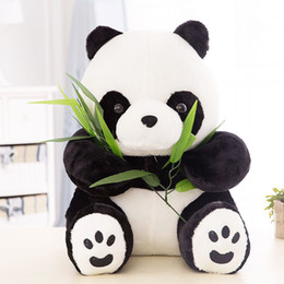 Wholesale Christmas Stuffed Panda Bear - Wholesale cheap NT Quality Sitting Cute PANDA BEAR Stuffed Animal Plush Soft Cute Toy Doll Gift