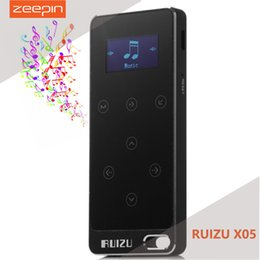 Wholesale Touch Mp3 Digital Music Player - Wholesale- ZEEPIN RUIZU X05 8G Digital MP3 Player Touch Screen Music Player Pedometer FM Stereo Radio ACELP ACC-LC WAV FLAC APE OGG