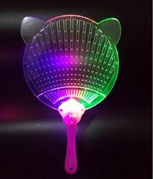 lumières de ventilateur de jouet Promotion Nouveau Halloween De Noël Coloré Flash Fan De La Lumière Émettant Des Ventilateurs Pushan Publicité Cadeau Flash Light Fan Jouets Party Fan
