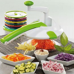Wholesale Salads Machine - 16 Pcs Set Multi Functional Cutter Chopper Stainless Steel Salad Machine Magic Manual Processor Vegetable Fruit Slicer Kitchen Grater & Pee