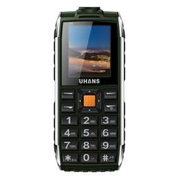 Wholesale Big Box Speakers - Uhans V5 Waterproof phone shockproof Elder cell phone Dual sim 2500Mah power bank Big box speaker Flashlight Child Mobile phone
