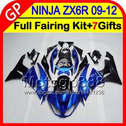 Argentina Glossy blue 7gifts Para KAWASAKI NINJA ZX 6 R ZX636 09-12 ZX6R 09 10 11 12 5HM1 ZX 636 ZX-6R ZX 6R 2009 2010 2011 2012 Fairing Blue black supplier zx 636 fairings Suministro